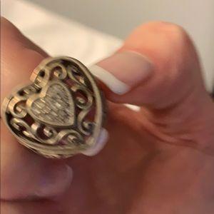Brighton Jewelry - Brighton Heart Shaped Silver Ring